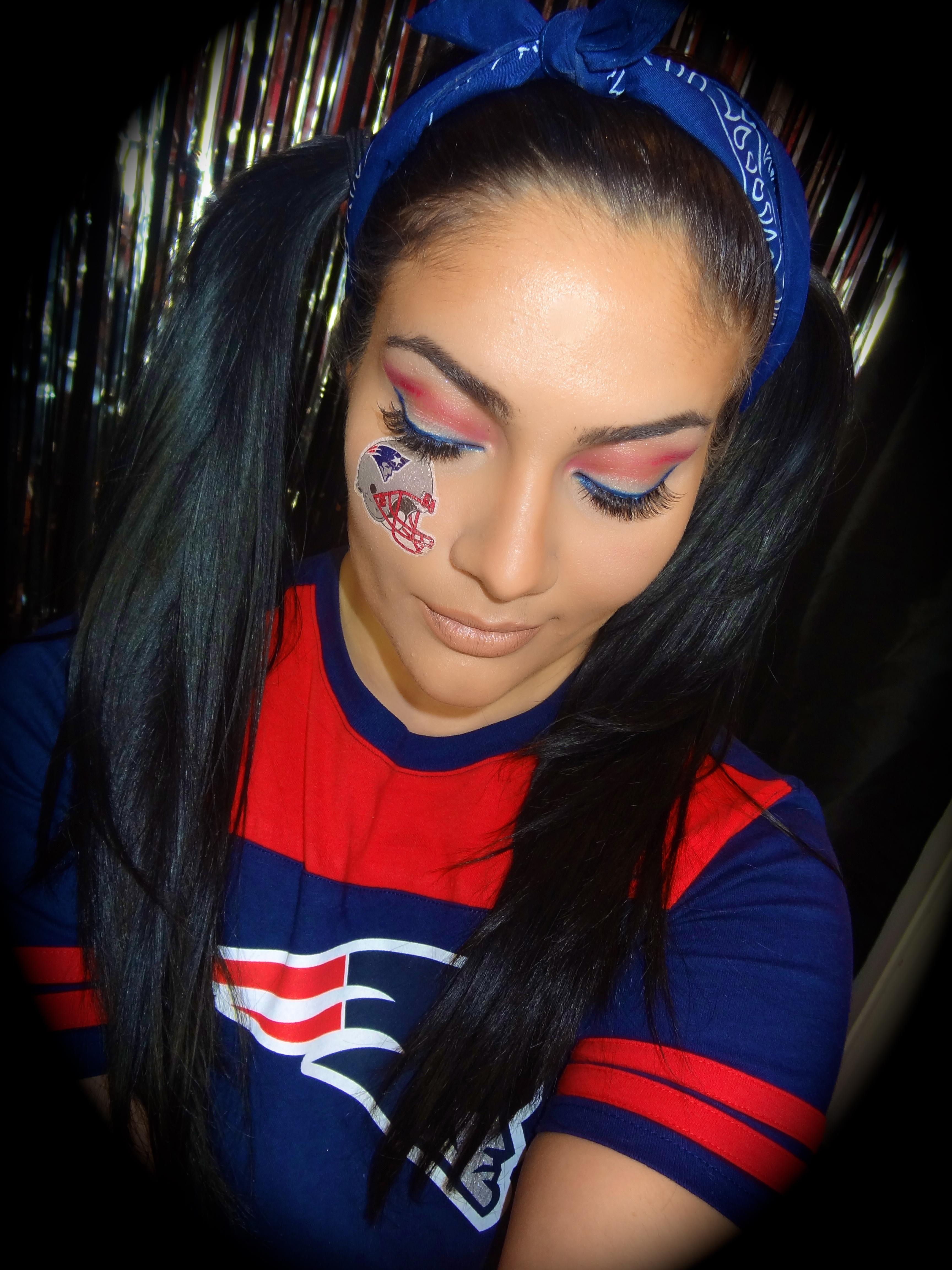 New England Patriots Makeup Tutorial