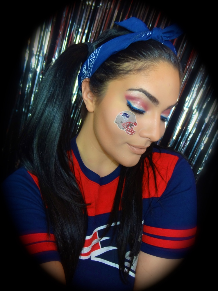 New England Patriots Makeup Tutorial | VIDEO (3/5)